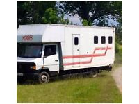 6.5t Mercedes Horsebox. 1986. Diesel. Stalled for 3. Very Reliable. Must be sold.