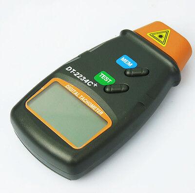 Digital Laser Photo Tachometer Non Contact Rpm Tach New