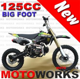 NEW MOTOWORKS BIGFOOT 125cc MOTOR TRAIL DIRT PIT 2 wheels BIKE
