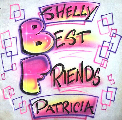 Personalized BFF Best Friends Forever Airbrushed T-Shirt Great for