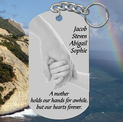 Hands Pic, MOM Keychain Gift!  Personalized for FREE w' kids names ~ Mother](Keychains For Kids)