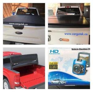 Soft Tri Fold and Hard Folding Tonneau Covers For Sale, Free Car Dash Camera with Purchase