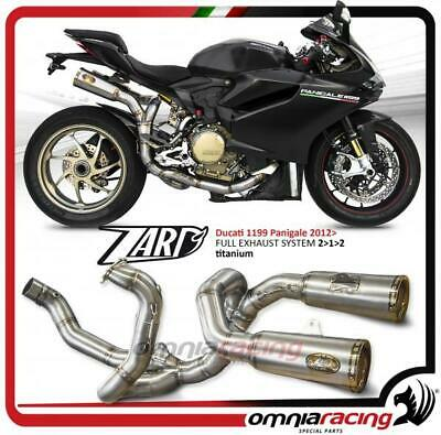 Zard Full exhaust system racing 2.1.2 titanium for Ducati 1199 Panigale 2012 12>