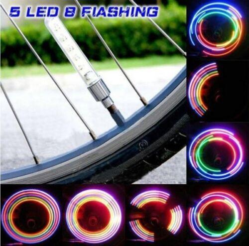 7 LED Bicycle Bike Wheel Tire Spoke Valve Flash Letter Light Neon Auto Lamp.....