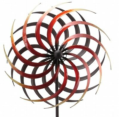 XXL Windrad Ora ArtFerro Windspiel Gartenstecker Gartendeko Metall * H186 * Ø46