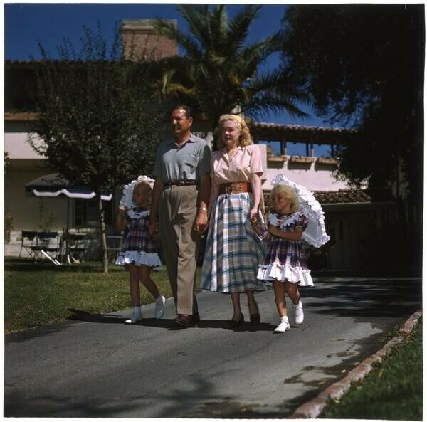 Alice Faye Phil Harris and family Vintage Vivid Color 5x4 Transparency 1940