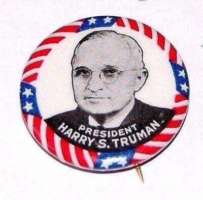 1948 HARRY TRUMAN campaign pin pinback button political presidential election 48