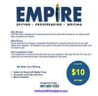 Empire Writing - Editing & Proofreading Services - From $10
