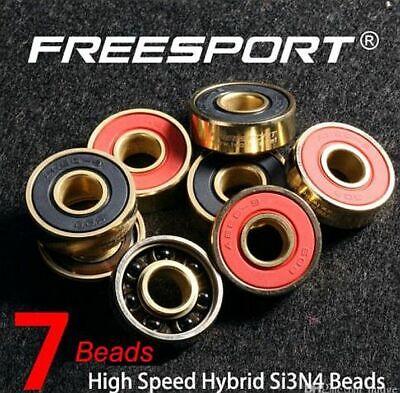 12 Pcs 608rs Freesport Hi Speed Black Ceramic Ball Bearings Nib