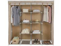 Light Metal framed wardrobe