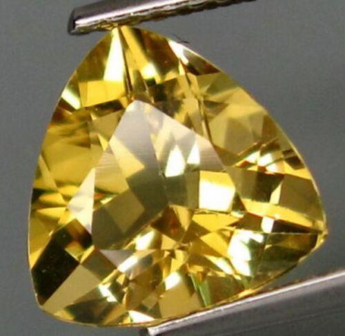 2.50 cts Natural Trillion-cut Golden-Yellow VVS/IF Heliodor (Yellow Beryl)