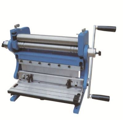 165180 3-In-1 Manual Sheet Metal Shear Brake Roller Bending Machine 305mm