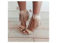 Zara fringe shoes size 7