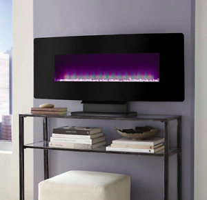 Curved Wall Mount or Free Standing Electric Fireplace