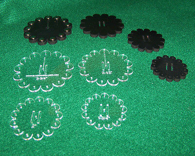 Rosette Template Set For Leather Crafters, Conchos, Rodeo, Spurs