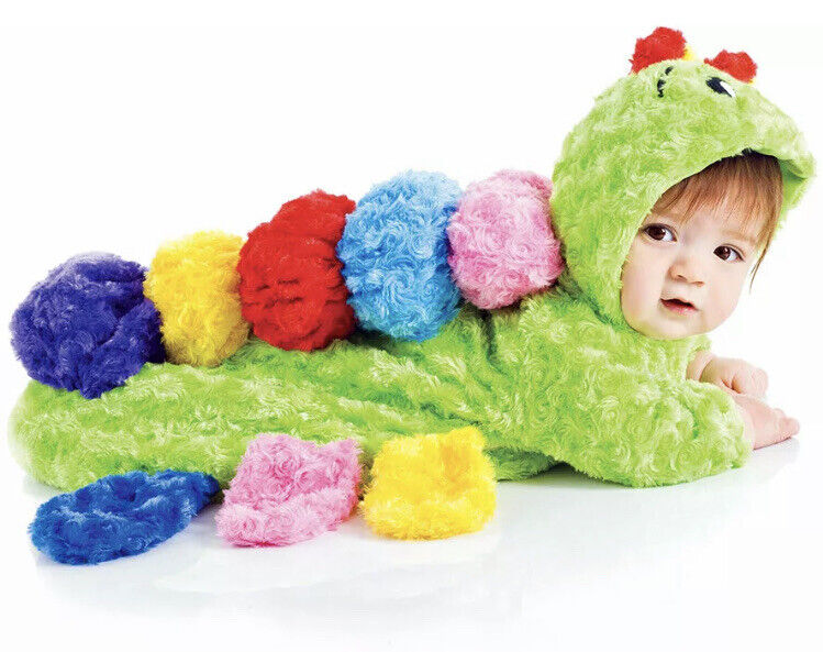 Colorful Caterpillar 0-6 Months Baby Bunting Halloween Costume NEW In Package