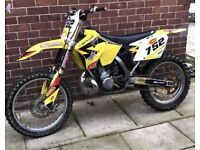 2008 rm 250cc 2 stroke swap for road legal 125cc (ktm husqvarna cr yz kx rm dt wr) or quad