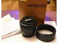 Nikon AF-S 50mm f1.8g Prime Lens