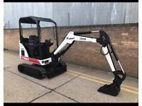 2001 bobcat 322 1.6 ton mini digger, expanding tracks, kubota engine, choice of 2