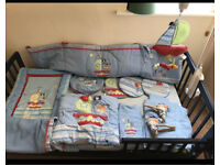 Boys nursery room set - pirates cot bumper set