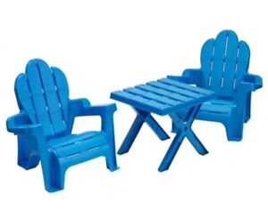 American Plastic Toys Toddlers Adirondack Table and Chairs Set