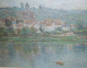 "Claude Monet ""Vetheuil"" Painted 1901 Textured Art Print Stratford Kitchener Area image 2"
