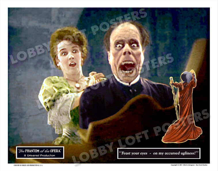 THE PHANTOM OF THE OPERA LOBBY CARD # 9 POSTER 1925 LON CHANEY MARY PHILBIN