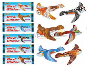 6 Bird Gliders - Styrofoam Planes Pinata Toy Loot/Party Bag Fillers Wedding/Kids