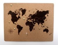 World map cork bord