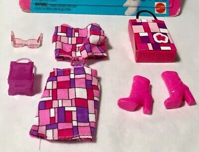 BARBIE'S: Plaid Mod Mini Dress Fashion And Accessories! Mattel