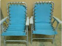 Pair of garden chairs