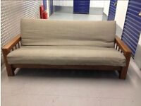 The Futon Company Vienna 3 Seater Top of the Range Double Futon Sofa Bed + Cover+Cushions Cost £900