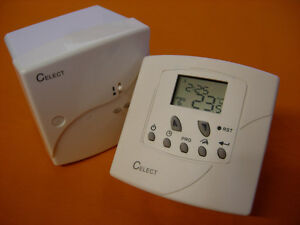 Celect Programmable Wireless Rf Room Thermostat Volt Free Drf