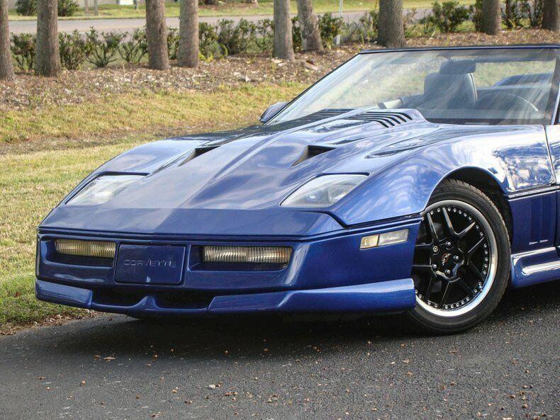 1987 Blue Chevrolet Corvette Convertible    C4 Corvette Photo 5
