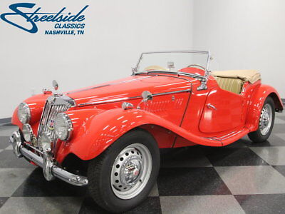 1954 MG TF  TUNNING GUARDS RED PAINT, GREAT RUNNING 1250CC MOTOR, RESTO PHOTOS, CLEAN TF!