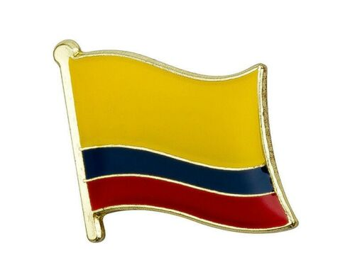 """Colombia Flag Lapel Pin 19 x 16mm (3/4"""" x 5/8"""") Hat Tie Tack Badge Pin"""