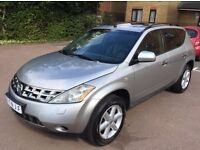LHD LEFT HAND DRIVE NISSAN MURANO 3.5 V6 PETROL 2007 SILVER FULLY LOADED BLACK LOW MILEAGE IMMACULT