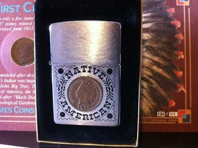 Sharp Iconic Retired Native American Indian Head Penny Zippo Lighter