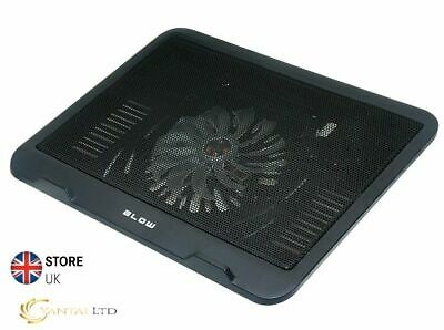 HQ USB LAPTOP NOTEBOOK COOLER COOLING PAD Black 1 BIG FAN 14cm BLOW HighQuality