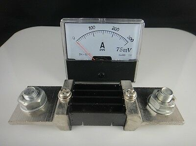 Analog Amp Panel Meter Current Ammeter Dc 0-300a Shunt