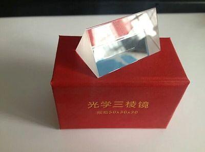2 Optical Glass Triangular Prism Physics Teaching Light Spectrum 5cm