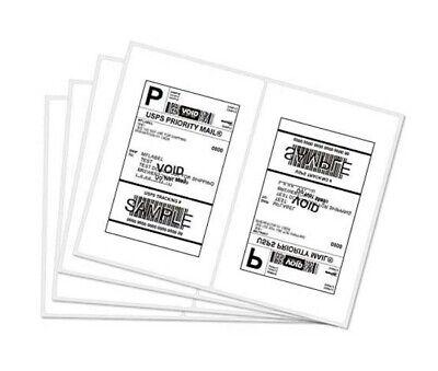 Half-sheet Shipping Self-adhesive Ebay Paypal Labels 25 Sheets 50 Labels