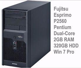 Fujitsu Esprimo P2560 Pentium Dual-Core E5500 -2.8GHz, 2GB, 320GB, Windows 7 Pro