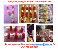 FRESH FLOWER GARLANDS & JEWELRY