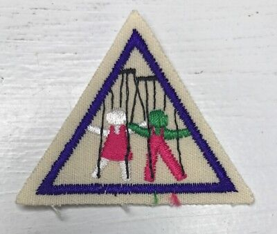 Girl Scout Brownies Try It Badge Patch Puppets Dolls Plays Acting Stage New
