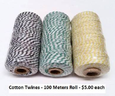 Cotton Twines (cotton string) and Moving Boxes + More
