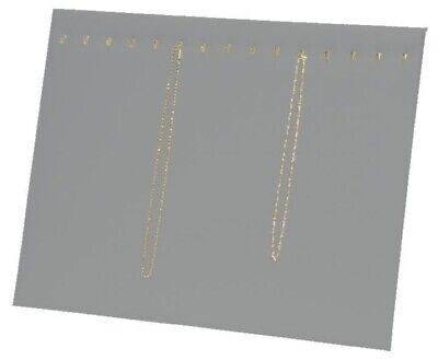 15 Hooks Gray Velvet Chain Necklace Pad W Easel Jewelry Store Display