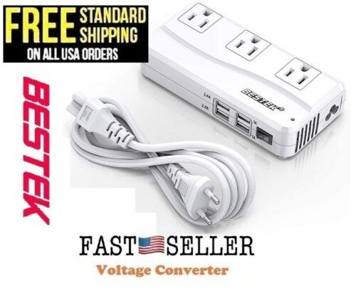 BESTEK Universal Travel Power Voltage Converter 220V to 110V with 6A 4-Port USB