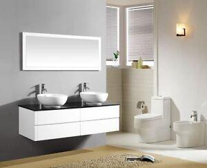 caricamento dellimmagine in corso mobile bagno doppio lavabo bagno completo pensile bianco