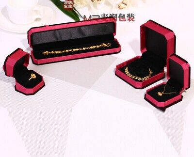 - Butterfly VELVET Watch Necklace Pendant Earrings Presentation Jewelry Gift Box